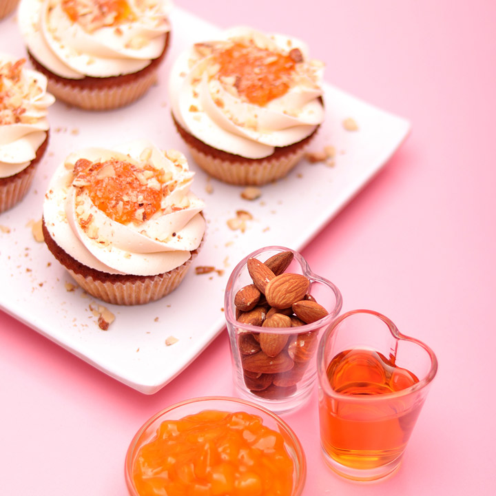 Amaretto and Apricot Cupcake by Take a Cake
