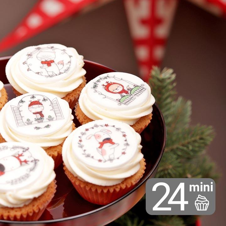 Christmas Mini Vanilla Cupcake Set