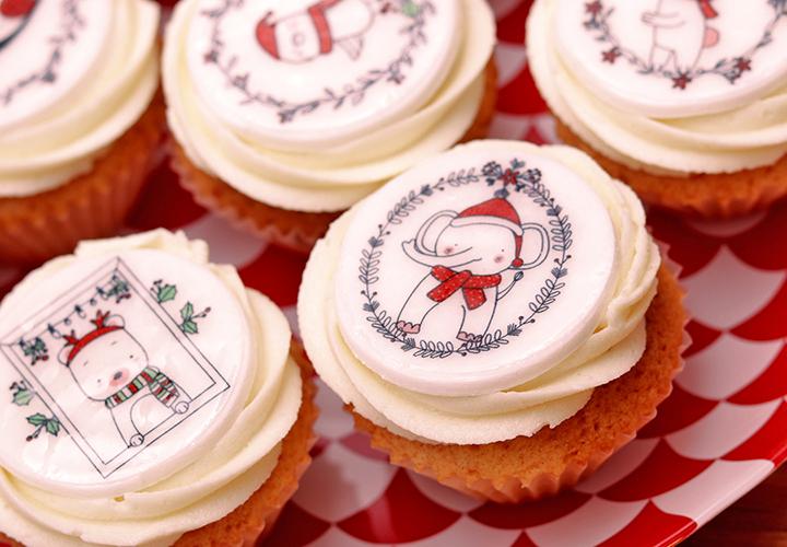 Коледен капкейк сет Мини Ванилия – безплатна доставка навсякъде в София от Take a Cake Bakery