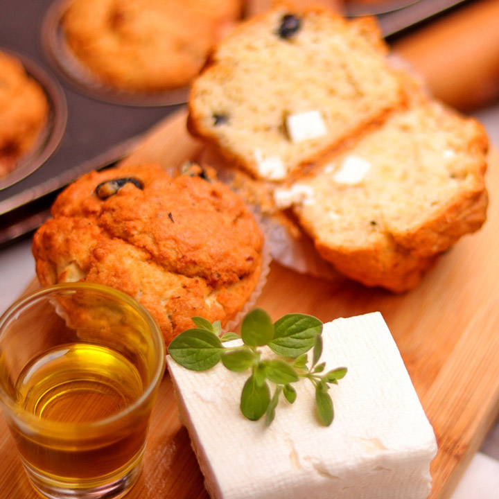 Muffin with Olives, Goat Cheese, and Oregano by Take a Cake