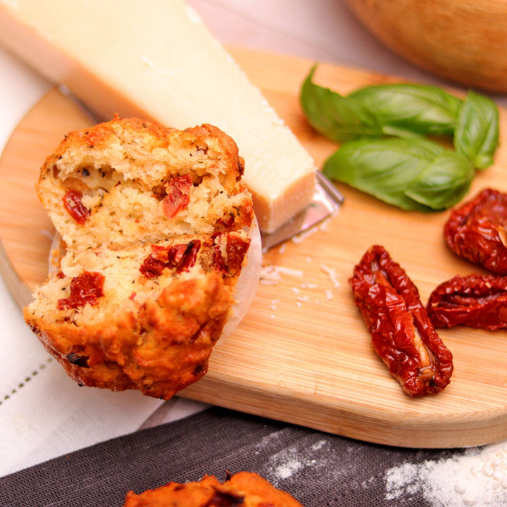 Dried Tomatoes, Parmesan and Basil Muffin by Take a Cake