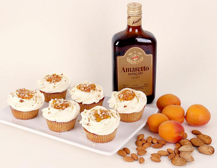 Apricot Amaretto Cupcake
